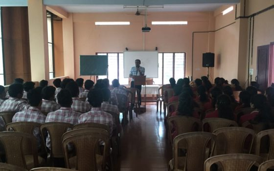 Awareness Class for the Students of Sanjos Public School Choondacherry Dr James Cyriac  on 27/11/2017