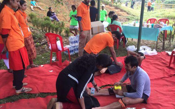 Rims sports medicine department provided medical aid for Vagamon ultrail 2018