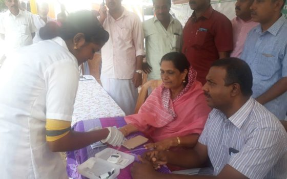 Conducted medical camp in association with KMC Kanjirappally on April 7th