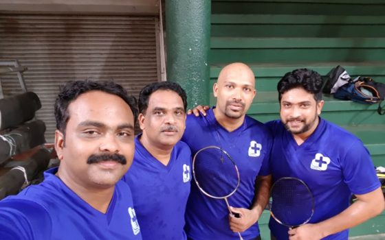 RIMS Hospital Consultants participated in Daya Inter hospital Badminton League 2018 held @Thrissur on 29April